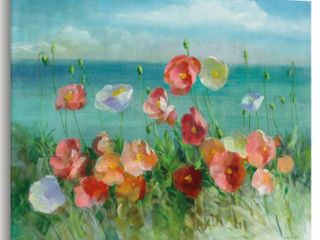 Noir Gallery Coastal Poppies Painting Unframed Art Print Poster