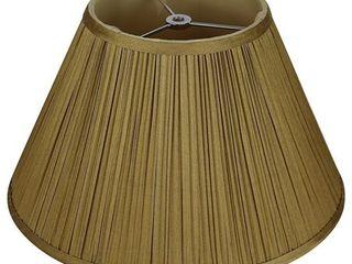 Mushroom Pleated lamp Shade  7 inch Top  14 inch Bottom  8 5 inch Slant