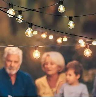 7 65m String lights Outdoor lED lights Hanging lights for Garden Pergola Decks Cafe Market  25 lights