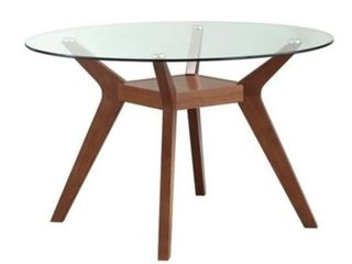 Coaster Paxton Round Glass Top Dining Table