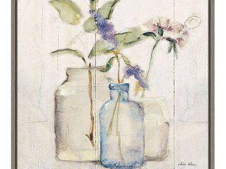 Canvas Art Framed  Blossoms on Birch  by Cheri Blum 16 x 16 inch