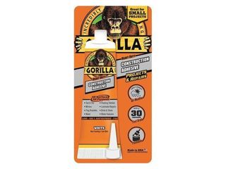 Gorilla Heavy Duty Construction Adhesive  White  2 5 Oz