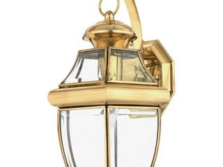 light Outdoor Wall lantern with Polished Brass Finish