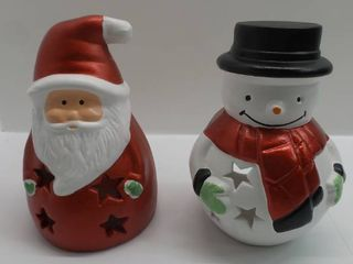 lot of 2 Christmas ceramic decorations