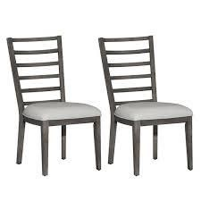 the grey barn side chair slat charcoal wood and black seats set of 2