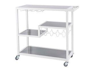 Holly   Martin Zephs Bar Cart  White