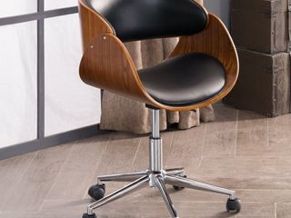 Corvus Mid century Wood and Metal Adjustable Office Chair   Retail 123 00 black