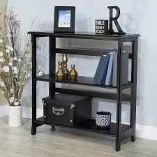 Porch   Den Mullerleile 3 shelf Folding Assembly Bookcase  Retail 159 49 black