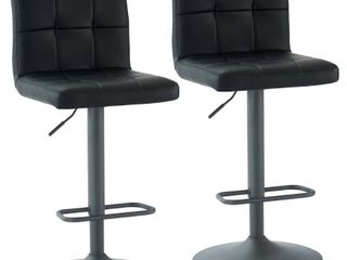 Fusion Adjustable Height Faux leather Stool  Set of 2  Retail 208 94