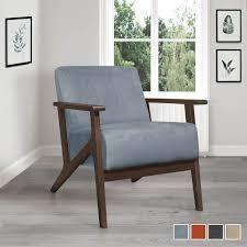 Ocala Accent Chair  Retail 208 99 blue gray velvet