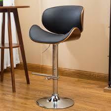 Strick   Bolton lega Modern Adjustable Swivel Barstool  Retail 98 99 black