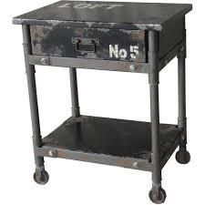 Aurelle Home Grove Industrial Black Accent Table  Retail 503 49 black