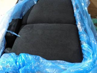 black loveseat cloth