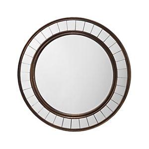 Alden Decor Round Wood Mirror with Trim   Antique Bronze  Retail 236 99