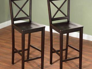 Virginia Cross back 30 inch stool  Set of 2  Retail 154 49
