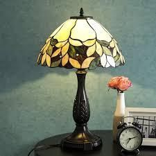 Victorian Rose Petal and leaf Table lamp