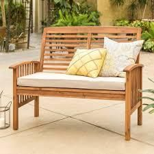 Surfside Acacia Outdoor love Seat   Brown by Havenside Home  Retail 202 99