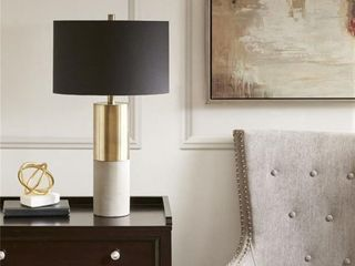 Fulton Gold  Black Table lamp by Hampton Hill  Retail 239 98 gold and black
