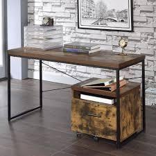 Carbon loft Kehlmann Black Metal and Wood Desk  Retail 112 99 oak finish