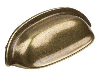 GlideRite 2 5 inch CC Antique Brass Classic Bin Cabinet Pulls  Pack of 10
