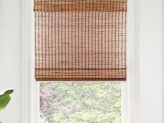 CHICOlOGY Cordless Bamboo Roman Shades  light Filtering beaver