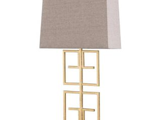 StyleCraft lexi Gold leaf Table lamp   Beige Shade gold
