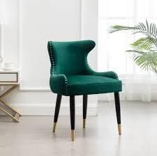 lindale Contemporary Velvet Upholstered Nailhead Trim Accent Chair green Retail 129 99
