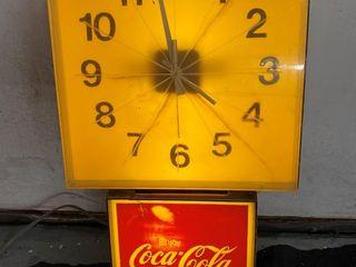 Coca Cola clock  12x22