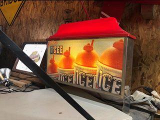 lighted Icee sign