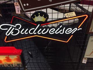 Budweiser bowtie neon 18 x48