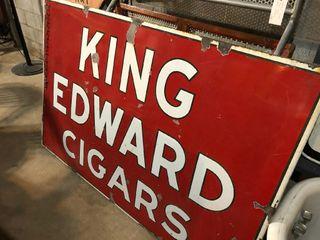 King Edwards Cigar DSP sign  46 Tx70 W