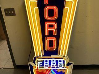 Ford crest neon  25 x27