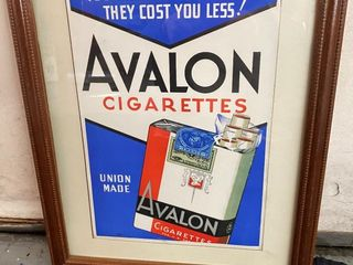 1939 Avalon picture in frame 16x21