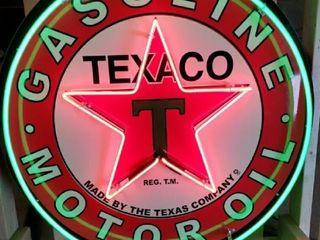 Texaco Neon tin 36