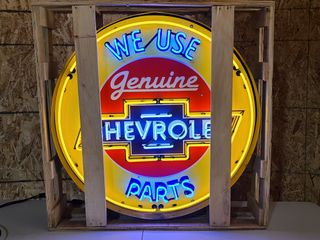 Chevy Genuine parts neon sign  36in