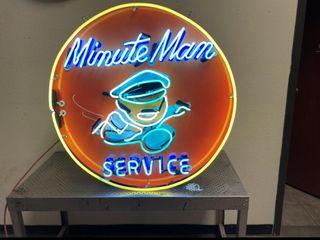 Minute Man Service neon  36