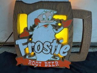Frostee Rootbeer  wood  light up  15x15