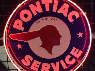 Pontiac neon sign 24in