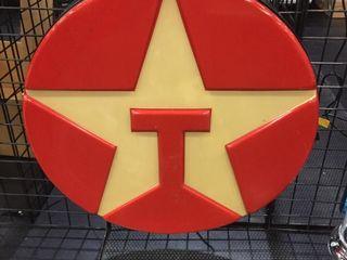 Texaco lighted 36  round sign