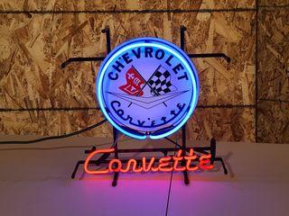 Corvette neon sign 24in