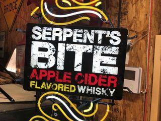 Serpent s Bite neon sign  32 Tx19 W