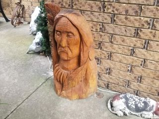 Wooden Indian head
