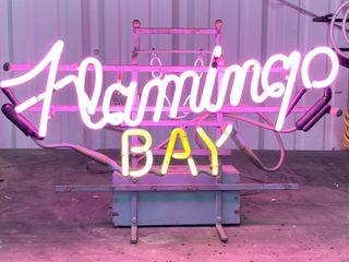 Flamingo Bay neon  24 x15