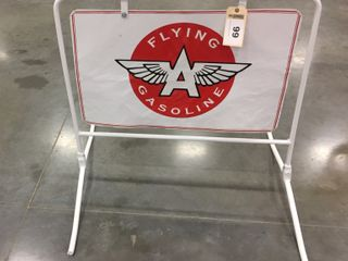 Flying  A  Gasoline w  stand