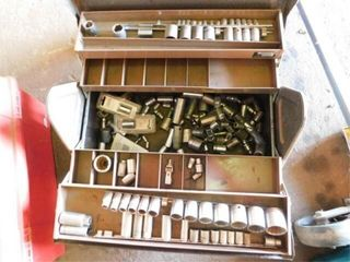 Tool box with lots of sockets