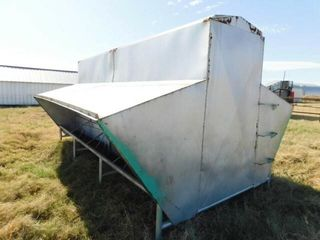 14 ft Steel self feeder on skid  good condition
