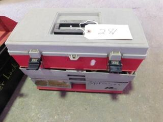 plastic tool box with sprayer parts
