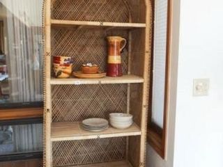 Woven Arched Shelf Unit  no contents