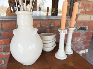 Vase  Bowls  Candleholders  7
