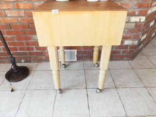 Butcher Block Table on Casters